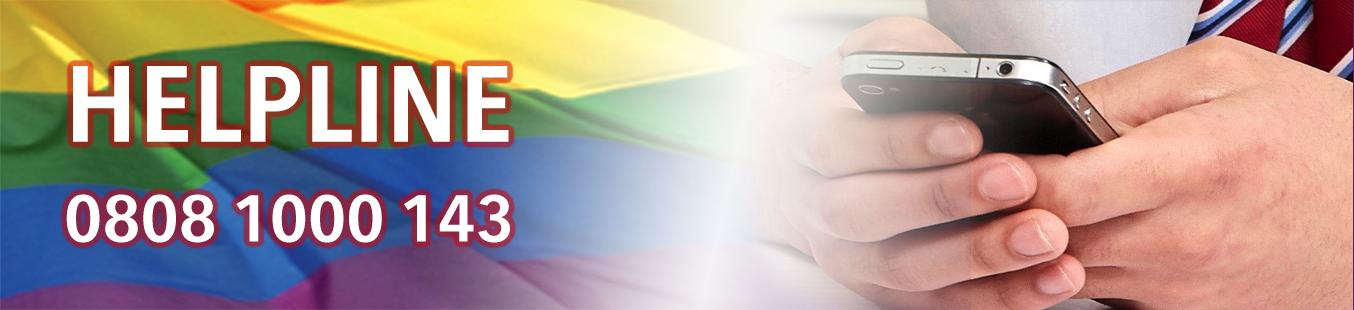 Homophobic Transphobic Helpline Banner