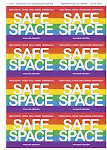 Download the Safe Space LGBTQ+ Resources Stickers label template